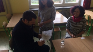 Natálka krom osobního poděkování panu Línkovi namalovala na památku obrázek