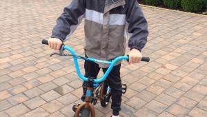 Míra se svým novým bikem!