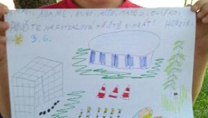 Honzík připravil pro své kamarády hezký plakátek