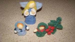 Danielky výtvory, krásné plstěné figurky