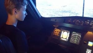 Na leteckém trenažéru