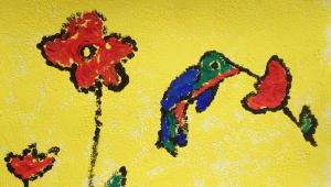 Moc ráda maluje přírodu. Líbí se jí kolibříci