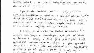Motivační dopis část č.1